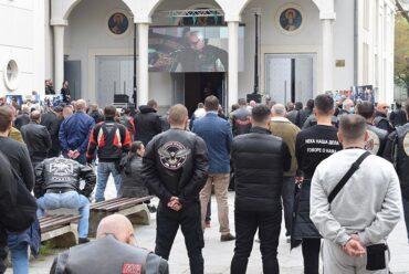 Комеморација поводом смрти Саше Савића, вође Ноћних вукова